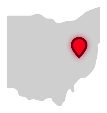 Buckeye Career Center location on Ohio map