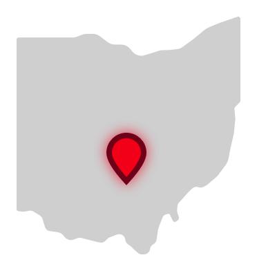 ECFTS location on Ohio map