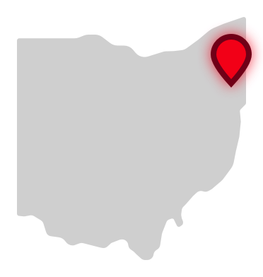 Mahoning County Career and Technical Center location on Ohio map