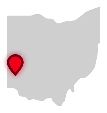 Miami University location on Ohio map