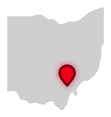 Ohio University location on Ohio map